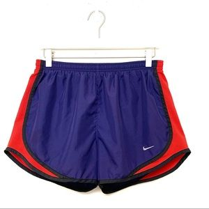 Nike Tempo Running Athletic Shorts Medium Red Blue